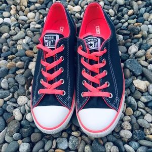 All Stars Dainty Navy Blue and neon Pink